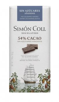Chocolate-Simon -Coll- sin-azúcar- 54%