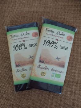 Chocolate-100%- cacao -República- Dominicana -Bio